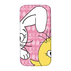 Easter Bunny And Chick  Samsung Galaxy S4 I9500/i9505  Hardshell Back Case by Valentinaart