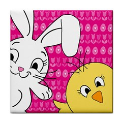 Easter Tile Coasters by Valentinaart