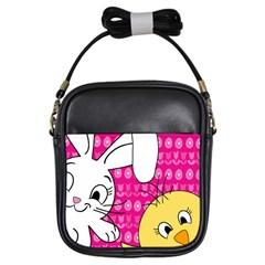 Easter Girls Sling Bags by Valentinaart
