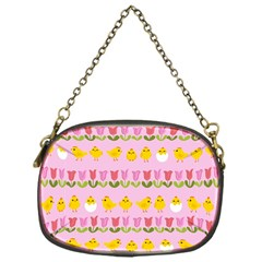 Easter   Chick And Tulips Chain Purses (one Side)  by Valentinaart