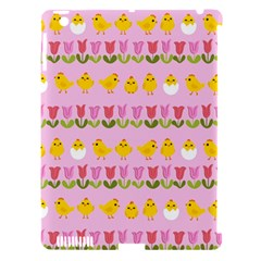 Easter   Chick And Tulips Apple Ipad 3/4 Hardshell Case (compatible With Smart Cover) by Valentinaart