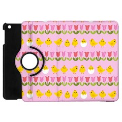 Easter   Chick And Tulips Apple Ipad Mini Flip 360 Case by Valentinaart