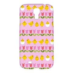 Easter   Chick And Tulips Samsung Galaxy S4 I9500/i9505 Hardshell Case by Valentinaart