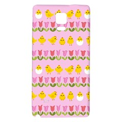 Easter   Chick And Tulips Galaxy Note 4 Back Case by Valentinaart