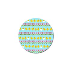 Easter   Chick And Tulips Golf Ball Marker (10 Pack) by Valentinaart