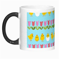 Easter   Chick And Tulips Morph Mugs by Valentinaart