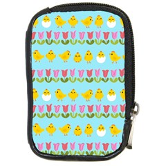 Easter   Chick And Tulips Compact Camera Cases by Valentinaart