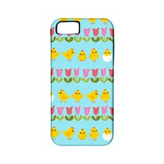 Easter   Chick And Tulips Apple Iphone 5 Classic Hardshell Case (pc+silicone) by Valentinaart