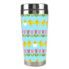 Easter   Chick And Tulips Stainless Steel Travel Tumblers by Valentinaart