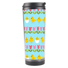 Easter   Chick And Tulips Travel Tumbler by Valentinaart