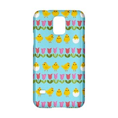 Easter   Chick And Tulips Samsung Galaxy S5 Hardshell Case  by Valentinaart