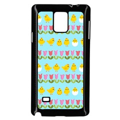 Easter   Chick And Tulips Samsung Galaxy Note 4 Case (black) by Valentinaart
