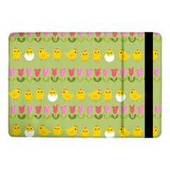 Easter   Chick And Tulips Samsung Galaxy Tab Pro 10 1  Flip Case by Valentinaart
