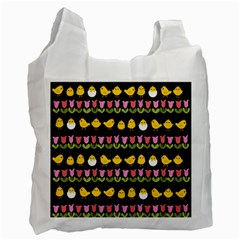 Easter   Chick And Tulips Recycle Bag (one Side) by Valentinaart