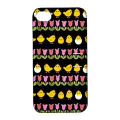 Easter   Chick And Tulips Apple Iphone 4/4s Hardshell Case With Stand by Valentinaart