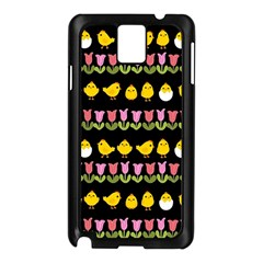 Easter   Chick And Tulips Samsung Galaxy Note 3 N9005 Case (black) by Valentinaart