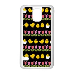Easter   Chick And Tulips Samsung Galaxy S5 Case (white) by Valentinaart