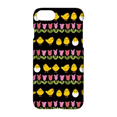 Easter   Chick And Tulips Apple Iphone 7 Hardshell Case by Valentinaart
