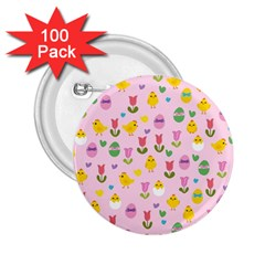 Easter   Chick And Tulips 2 25  Buttons (100 Pack)  by Valentinaart