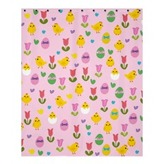 Easter   Chick And Tulips Shower Curtain 60  X 72  (medium)  by Valentinaart