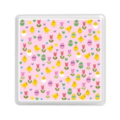 Easter   Chick And Tulips Memory Card Reader (square)  by Valentinaart