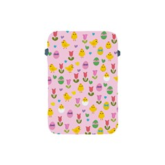 Easter   Chick And Tulips Apple Ipad Mini Protective Soft Cases by Valentinaart
