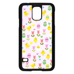 Easter   Chick And Tulips Samsung Galaxy S5 Case (black) by Valentinaart