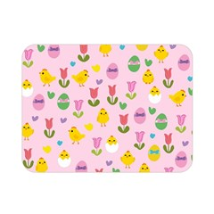 Easter   Chick And Tulips Double Sided Flano Blanket (mini)  by Valentinaart