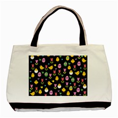 Easter - chick and tulips Basic Tote Bag by Valentinaart