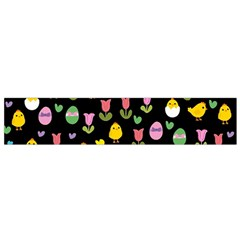 Easter   Chick And Tulips Flano Scarf (small) by Valentinaart