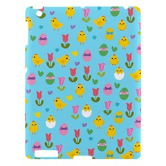 Easter   Chick And Tulips Apple Ipad 3/4 Hardshell Case by Valentinaart