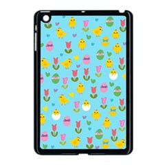 Easter   Chick And Tulips Apple Ipad Mini Case (black) by Valentinaart