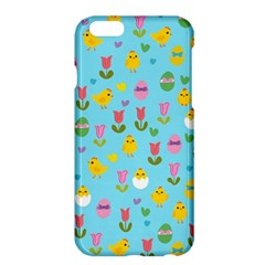 Easter   Chick And Tulips Apple Iphone 6 Plus/6s Plus Hardshell Case by Valentinaart