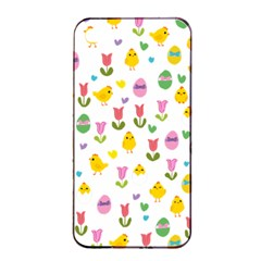 Easter   Chick And Tulips Apple Iphone 4/4s Seamless Case (black) by Valentinaart