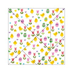 Easter - chick and tulips Acrylic Tangram Puzzle (6  x 6 ) by Valentinaart
