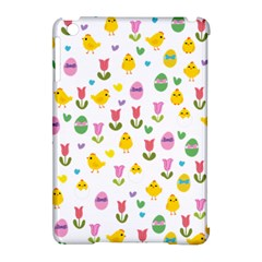 Easter   Chick And Tulips Apple Ipad Mini Hardshell Case (compatible With Smart Cover) by Valentinaart
