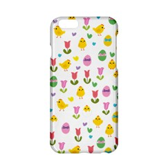 Easter   Chick And Tulips Apple Iphone 6/6s Hardshell Case by Valentinaart
