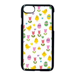 Easter   Chick And Tulips Apple Iphone 7 Seamless Case (black) by Valentinaart