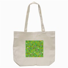 Easter   Chick And Tulips Tote Bag (cream) by Valentinaart