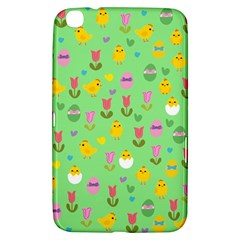 Easter   Chick And Tulips Samsung Galaxy Tab 3 (8 ) T3100 Hardshell Case  by Valentinaart