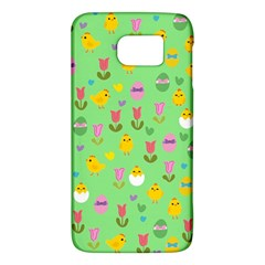 Easter   Chick And Tulips Galaxy S6 by Valentinaart