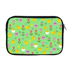 Easter   Chick And Tulips Apple Macbook Pro 17  Zipper Case by Valentinaart