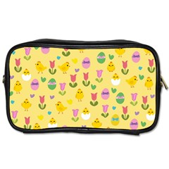 Easter   Chick And Tulips Toiletries Bags 2 Side by Valentinaart