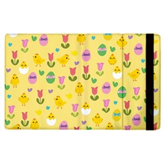 Easter   Chick And Tulips Apple Ipad 2 Flip Case by Valentinaart