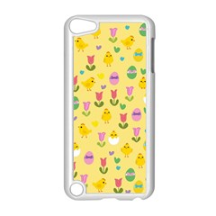 Easter   Chick And Tulips Apple Ipod Touch 5 Case (white) by Valentinaart