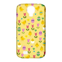 Easter   Chick And Tulips Samsung Galaxy S4 Classic Hardshell Case (pc+silicone) by Valentinaart
