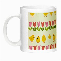 Easter   Chick And Tulips Night Luminous Mugs by Valentinaart
