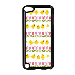 Easter   Chick And Tulips Apple Ipod Touch 5 Case (black) by Valentinaart