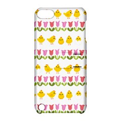 Easter   Chick And Tulips Apple Ipod Touch 5 Hardshell Case With Stand by Valentinaart