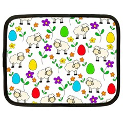 Easter Lamb Netbook Case (xl)  by Valentinaart